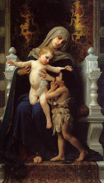 Madonna & Child with Saint John the Baptist by Adolphe-William Bouguereau, 1882