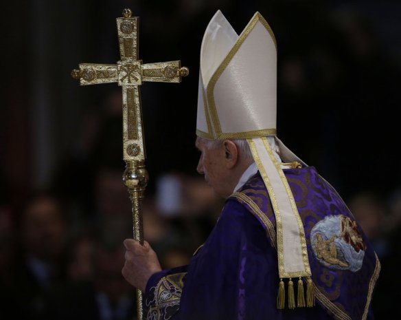 Pope Benedict celebrates Ash Wednesday Mass