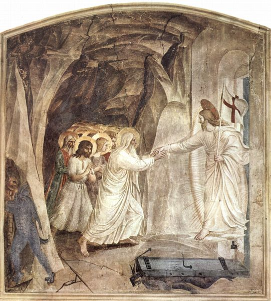 Christ in limbo by Fra Angelico c. 1450