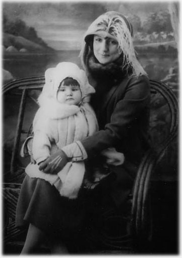 Young Rita, and her mother, Mae Francis