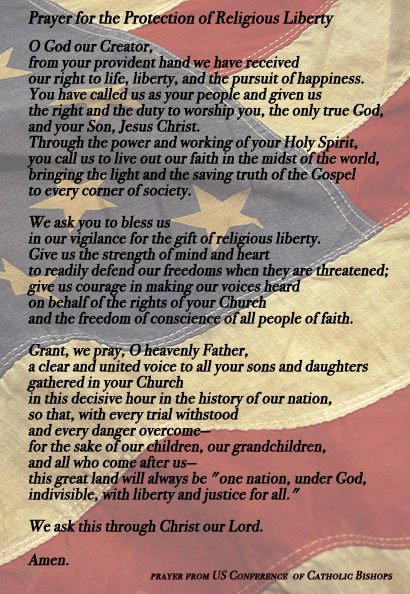 USCCB Prayer for the Protection of Religious Liberty