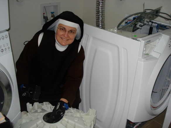 Repair nun at work