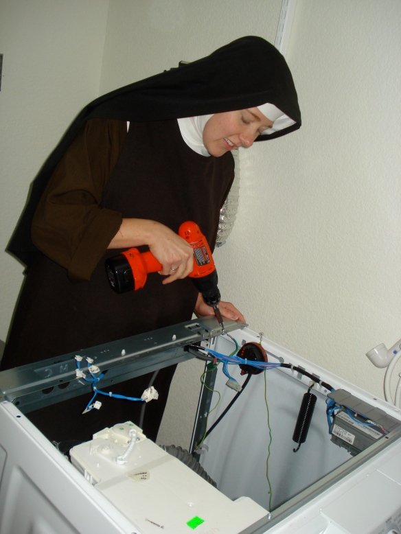 Repair nun at work