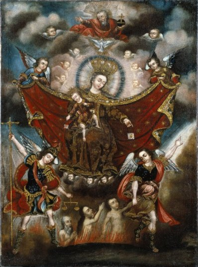 Virgin of Carmel Saving Souls in Purgatory - Circle of Diego Quispe Tito, Brooklyn Museum