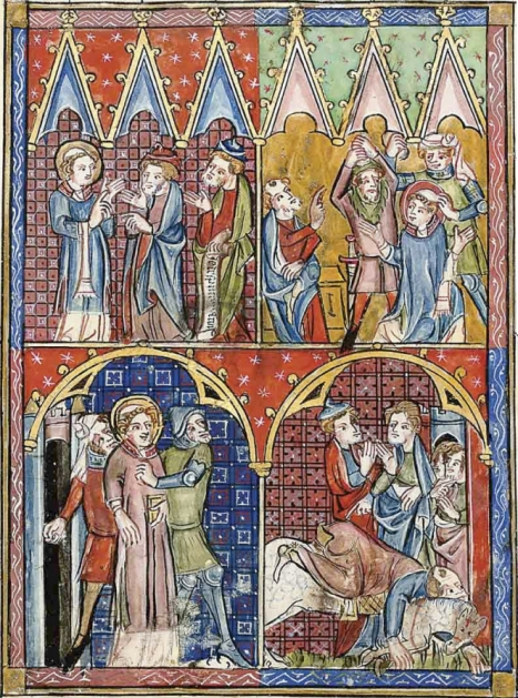 The martyrdom of St Stephen & the Conversion of St Paul