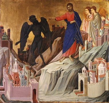 Duccio di Buoninsegna, Temptation on the Mount