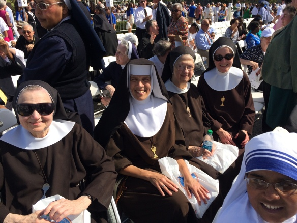 L to R: Sr. Inez, Sr. Marie St. John, Mother Angela, Sr. Rita