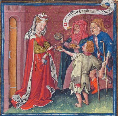 Catherine of Cleves distributing alms