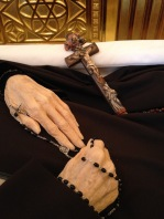 Her distinctive hands, with which she prayed, praised and labored for God for so many years.