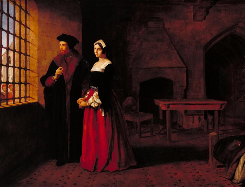 Sir Thomas More and his Daughter 1844, exhibited 1844 John Rogers Herbert 1810-1890 Presented by Robert Vernon 1847