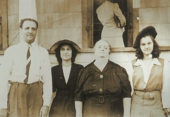 A 19 year old Rita Rizzo (far left) standing next to Rhoda Wise